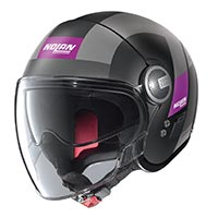 Nolan N21 Visor Spheroid Helmet Black Purple Lady