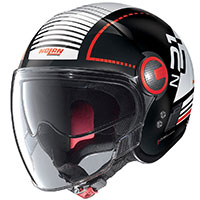 Nolan N21 Visor Runabout Rosso Nero Lucido