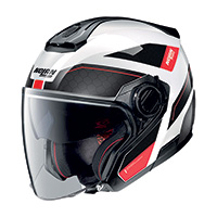 Nolan N40.5 Pivot N-com Red Black White