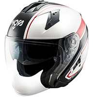 Casco NOS NS 2 Jet Sting rojo