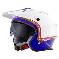 O'neal Volt Rothmans Helmet White Purple Blue