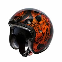 Premier Le Petit Classic Bd Orange Chromed Helmet