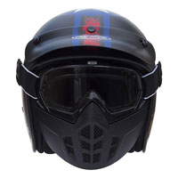 Premier Casco Jet Mask Pin Up 9 Nero Opaco