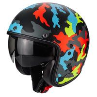 Scorpion Belfast Mission Nero Opaco-multi Color