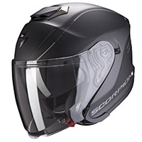 Casco Scorpion Exo S1 Shadow Nero Opaco Argento