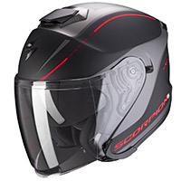 Scorpion Exo S1 Shadow Helmet Black Matt Red