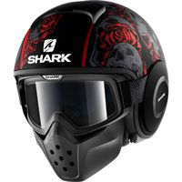 Shark Drak Sanctus Matt Black-red-anthracite