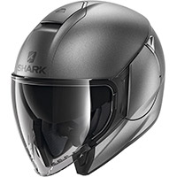 シャークシティクルーザーブランクマットヘルメット無煙炭