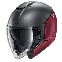 Shark Citycruiser Dual Blank Mat Helmet Red