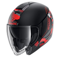 Shark Citycruiser Genom Mat Helmet Black Red