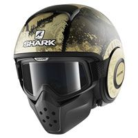 Shark Drak Evok Matt Black Green Silver