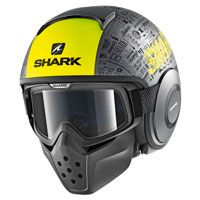 Shark Drak Tribute Rm Antracite Giallo Opaco