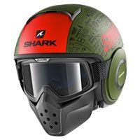 Shark Drak Tribute Rm Verde Rosso Opaco