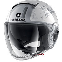 Casco Shark Nano Street Tribute Rm Argento