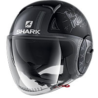 Casco Shark Nano Street Tribute Mat Rm Nero