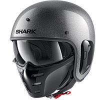 Shark S-drak 2 Blank Glitter Helmet Silver