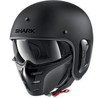 Shark S-drak 2 Blank Mat Helmet Black