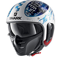 Shark S-drak 2 Tripp In Helmet White Blue Red