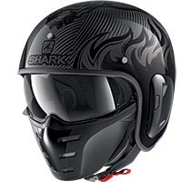 Casco Shark S-drak Carbon 2 Dagon Nero