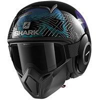 シャークストリートドラッククルルヘルメットブラックキラキラ
