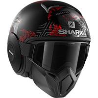 シャークストリート・ドルルマットヘルメット シルバーレッド