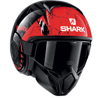 Shark Street Drak Crower Helmet Black Red
