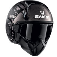 Casco Shark Street Drak Crower Mat Nero