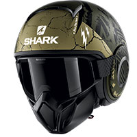 Shark Street Drak Crower Mat Helmet Green