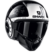 Shark Street Drak Tribute Rm Helmet Black White