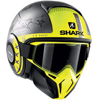 Casco Shark Street Drak Tribute Rm Mat Giallo