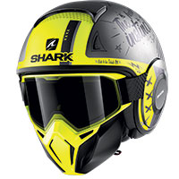 Shark Street Drak Tribute Rm Mat Helmet Yellow