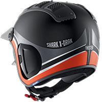 Shark X-drak 2 Hister Mat Helmet Orange