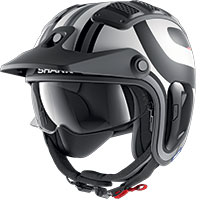 Shark X-drak 2 Thrust-r Mat Helmet Black White