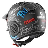 Shark X-drak Freestyle Cup Mat Black Matt Red Blue