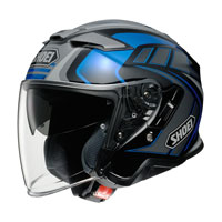 Casco Jet Shoei J-cruise 2 Aglero Tc-2 Blu