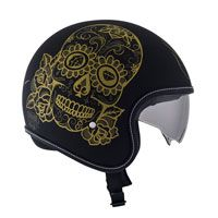 Suomy Rokk Calavera Black Gold