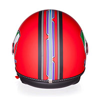 Vespa V-stripes Helmet Red