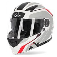 Acerbis Rederwel Modular Helmet White Red