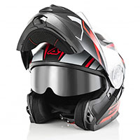 Acerbis Serel Modular Helmet Black Red