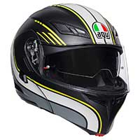 Agv Compact St Boston Helmet Black Gray Yellow