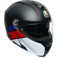 Agv Sportmodular Layer Carbon Red Blue