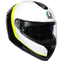 Agv Sportmodular Ray Carbon Bianco Giallo Fluo