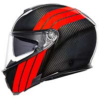 Agv Sportmodular Stripes Helmet Carbon Red
