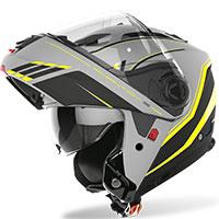 Casco modular Airoh Phantom S Beat amarillo mate