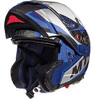 Mt Helmets Atom Sv Transcend E7 Blu