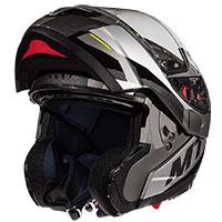 Mt Helmets Atom Sv Transcend E2 Grigio Opaco