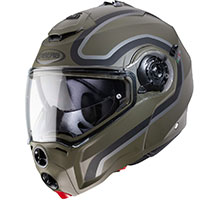 Caberg Droid Pure Modular Helmet Green Military