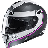 Hjc I90 Davan Modular Helmet Grey Pink Lady