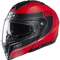 Hjc I90 Davan Modular Helmet Red Black