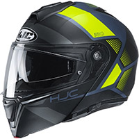 Hjc I90 Hollen Modular Helmet Black Yellow